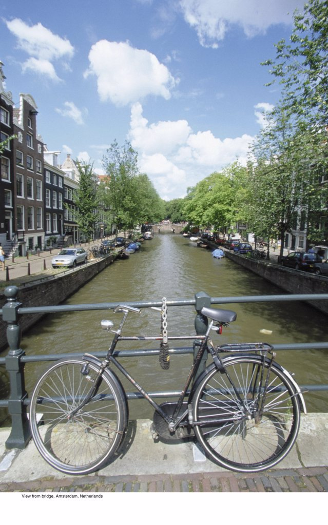 Stock Photo: 1439R-701069 View from bridge, Amsterdam, Netherlands