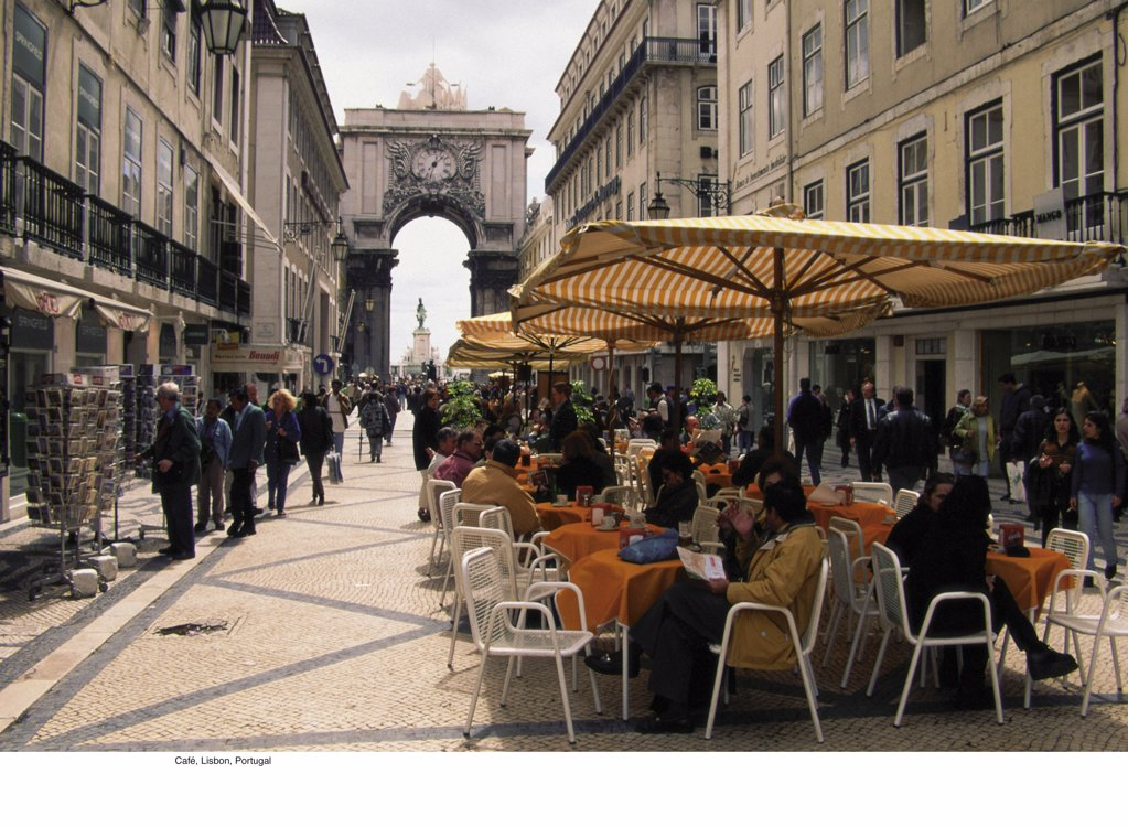 Stock Photo: 1439R-702024 Café, Lisbon, Portugal