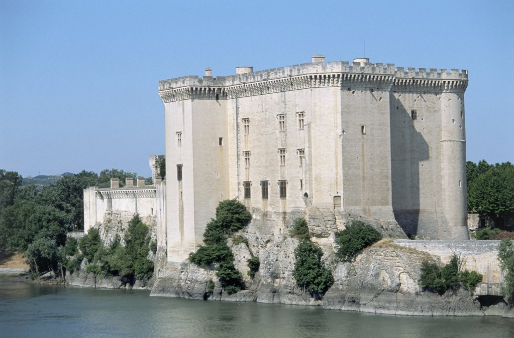 Tarascon Castle on the Rhône : Stock Photo