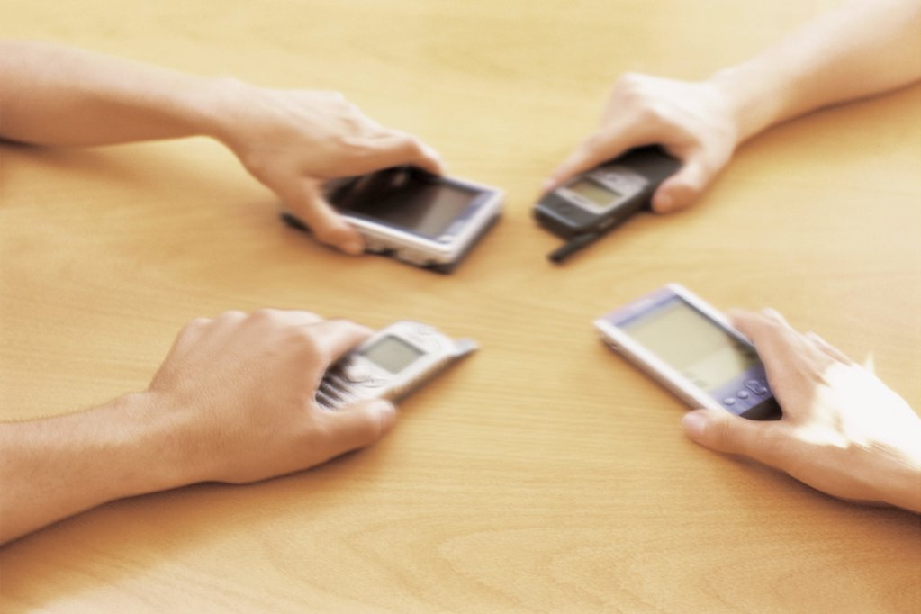 Stock Photo: 1439R-73042 Mobile technology