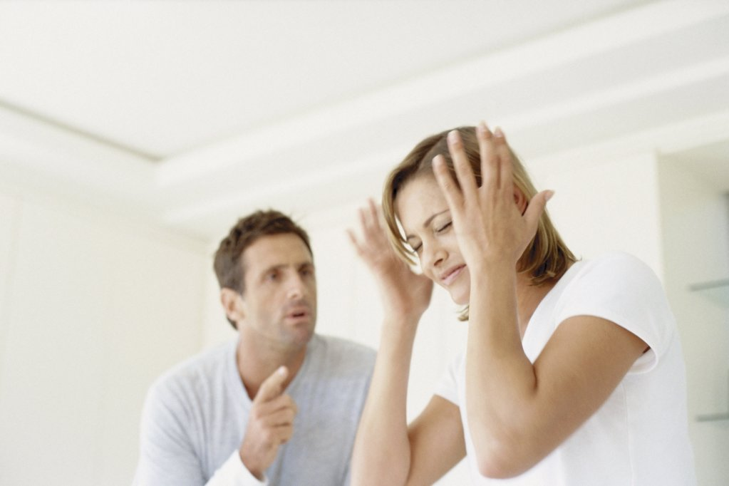 Man and woman arguing : Stock Photo