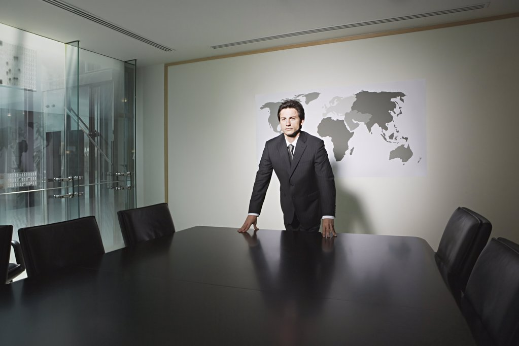 Businessman in a conference room : Stock Photo