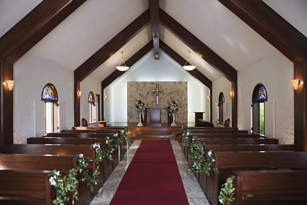 Stock Photo: 1439R-996842 Church interior