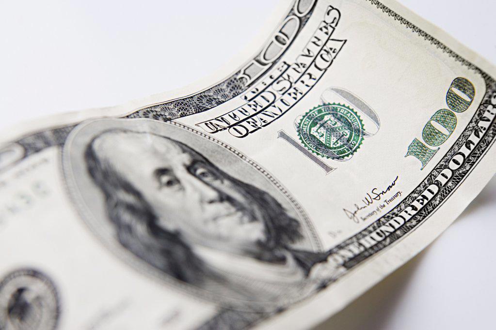One hundred dollar bill : Stock Photo