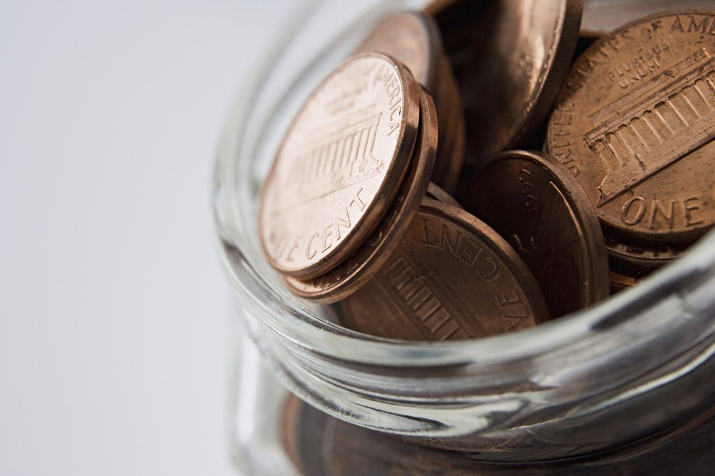 Stock Photo: 1439R-997724 Jar of money