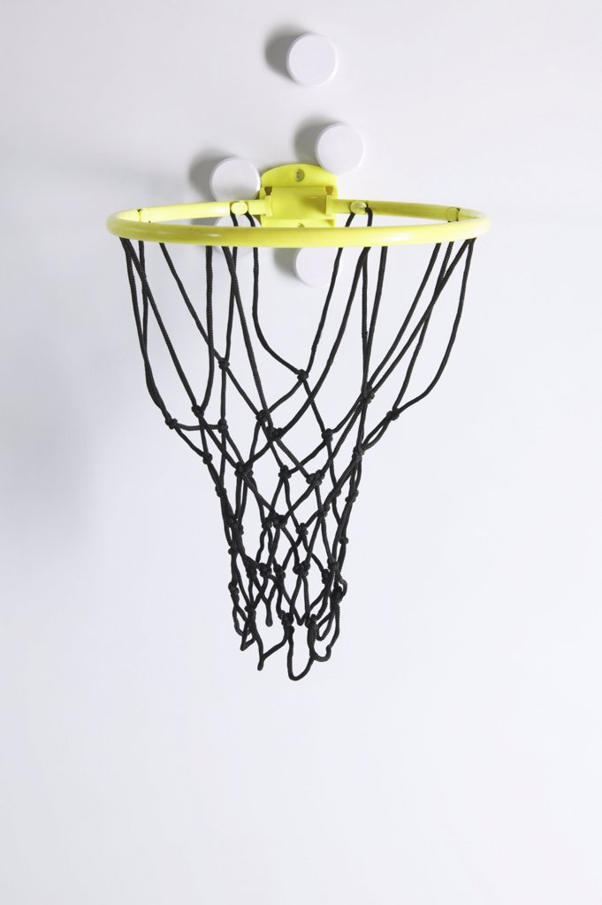 Stock Photo: 1439R-998365 Basketball hoop on the wall