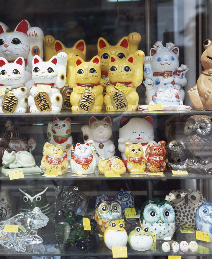 Lucky ornaments in Yokohama shop : Stock Photo
