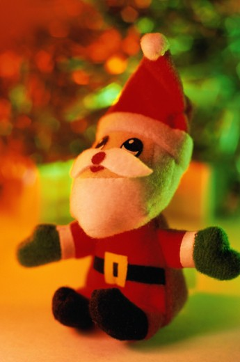 Stock Photo: 1441R-284 Close-up of a Santa Claus doll