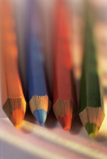 Close-up of colored pencils : Stock Photo