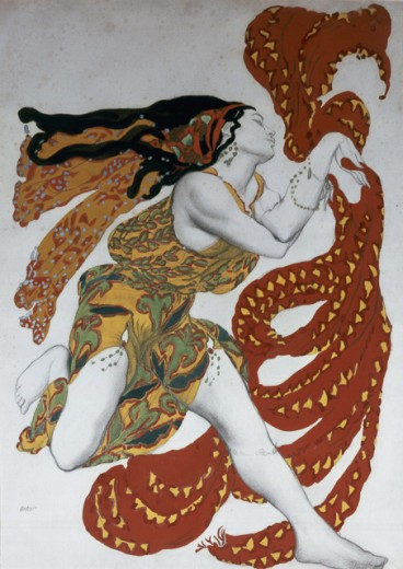 "Stock Photo: 1443-1028 Bacchante--Costume Design for the Ballet ""Narcisse""