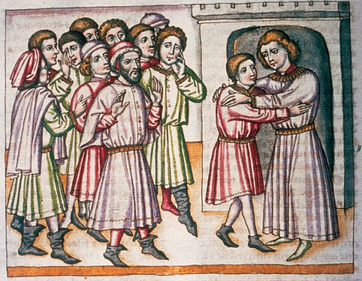 Stock Photo: 1443-1137 Joseph Makes Himself Known to His Brothers 