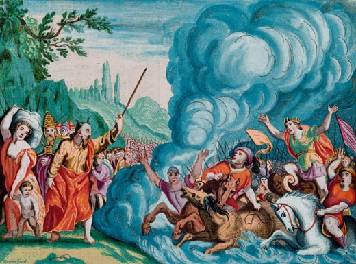 Stock Photo: 1443-1139 Death of the Egyptians in the Red Sea 
