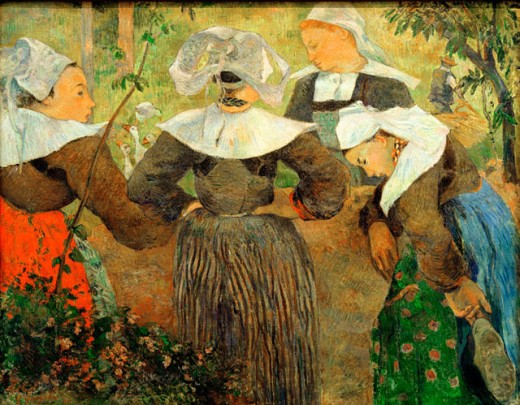 Stock Photo: 1443-1172 Breton Peasant Women 