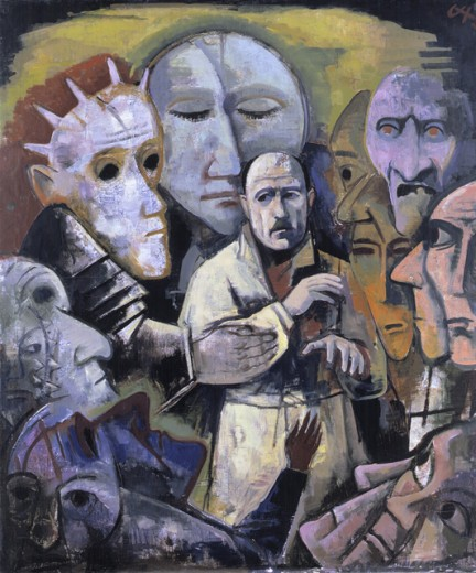 Stock Photo: 1443-157 Self Portrait with Demons