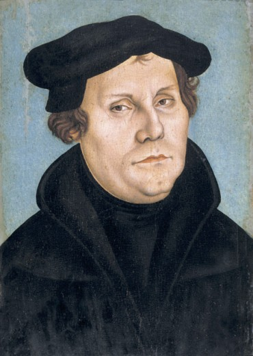 Stock Photo: 1443-181 Portrait of Martin Luther with Beret