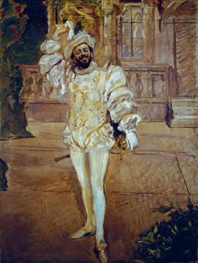 Stock Photo: 1443-197 The Champagne Aria--The Singer Francisco d'Andrade as Don Giovanni  