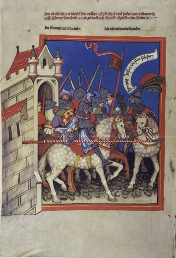 Stock Photo: 1443-212 Rudolf von Ems' World Chronicle: King David Captures Sion & Jerusalem