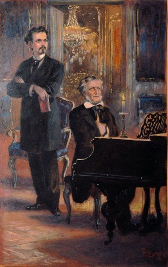 Stock Photo: 1443-230 Richard Wagner & Ludwig II