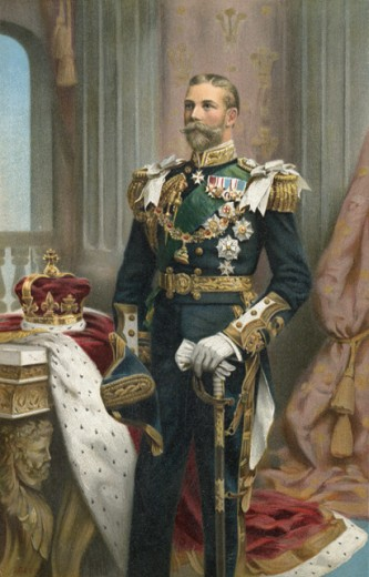 Stock Photo: 1443-282 Portrait of George V as Prince of Wales