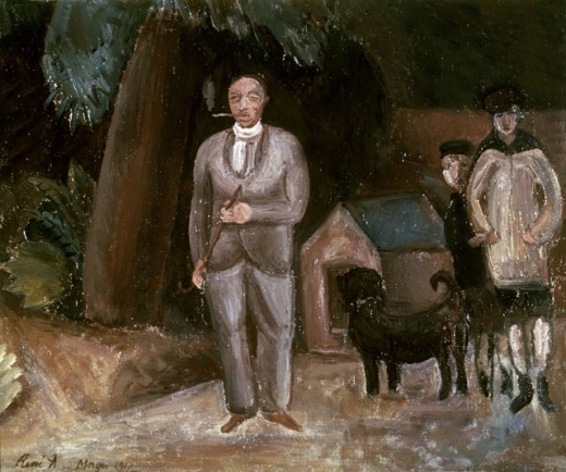 Stock Photo: 1443-410 Stravinsky With His Children, July 1917