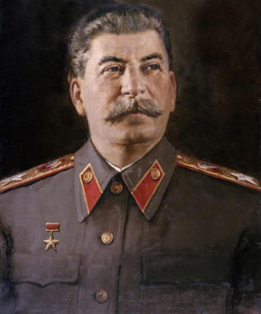 Stock Photo: 1443-416 Joseph Stalin  1935 Nikolaj Vasil'evic Tomskij (b.1900 Russian) Oil on canvas