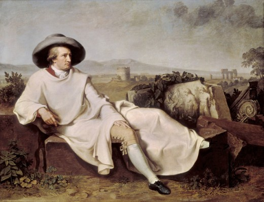 Stock Photo: 1443-473 Goethe in the Roman Campagna