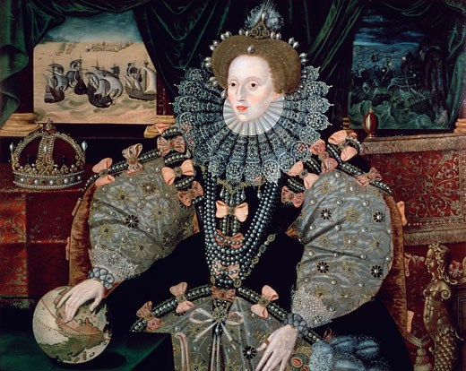 Stock Photo: 1443-485 Elizabeth I Armada Portrait  