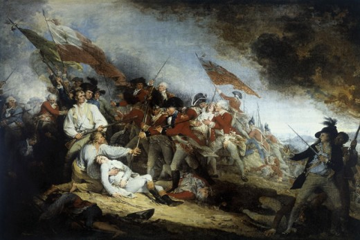Stock Photo: 1443-498 The Battle of Bunker Hill (Death of Joseph Warren)