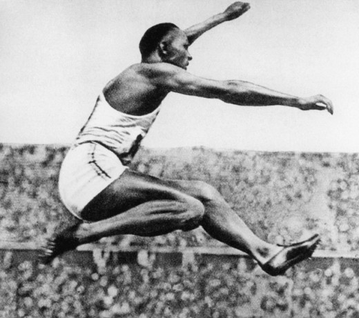 Stock Photo: 1443-593 Jesse Owens, 1936 Olympic Games, Berlin, Germany