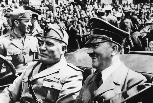 Stock Photo: 1443-618 Benito Mussolini and Adolf Hitler, Munich, Germany, June 18, 1940