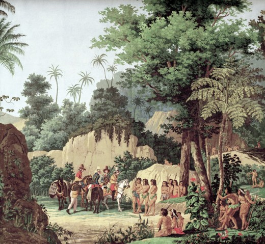 Brazilian Landscape with Scenes from the Lives of Indians