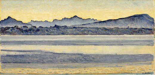Lake Geneva with Mont Blanc