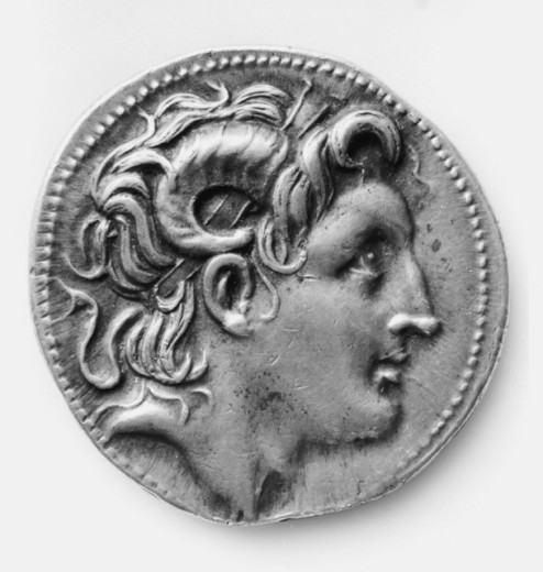 Stock Photo: 1443-811 Tetradrachm of Alexander the Great as the God Amon  