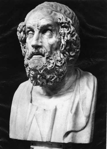 Stock Photo: 1443-815 Bust of Homer 
