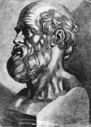 Stock Photo: 1443-818 Hippocrates (460-375 BCE), Greek Physician