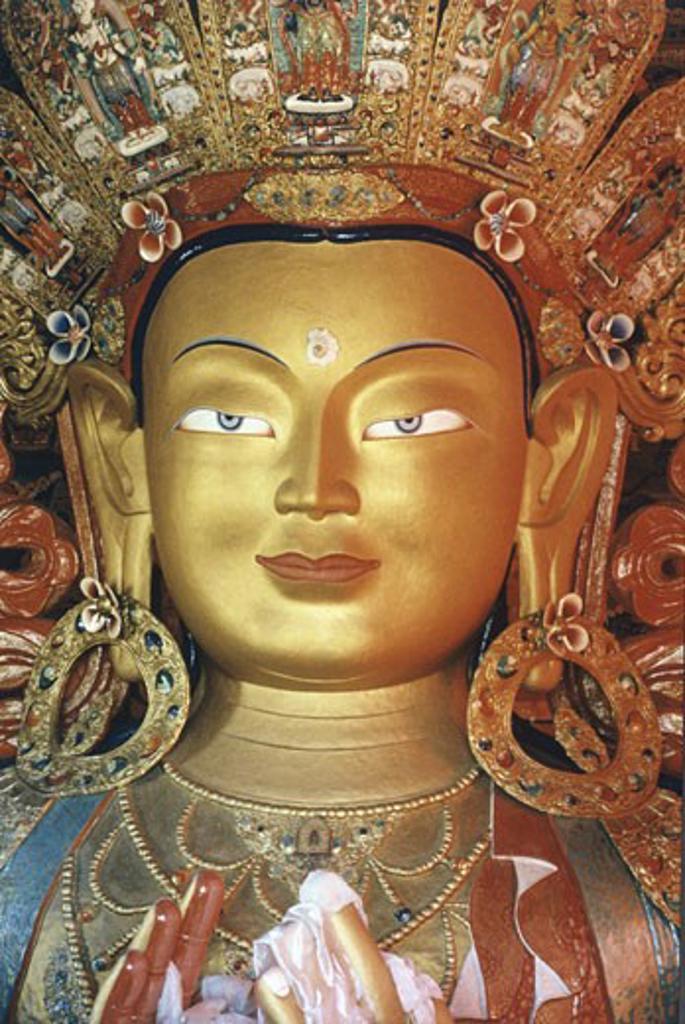 Stock Photo: 1443-855 Maitreya (Buddha of the Coming Age) Artist Unknown  Thikse Monastery, Ladakh