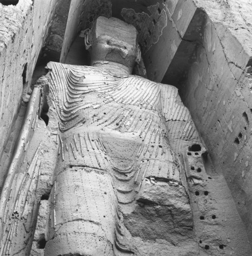 Stock Photo: 1443-900 Colossal Buddha -Bamiyan, Afghanistan 