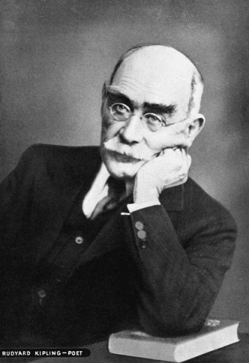 Rudyard Kipling, Writer, c. 1910 : Stock Photo