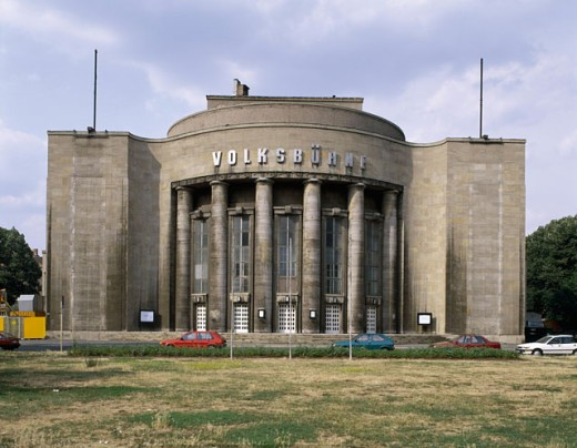 Stock Photo: 1443-956 Facade of a stage theater, Volksbuhne Theater, Berlin, Germany