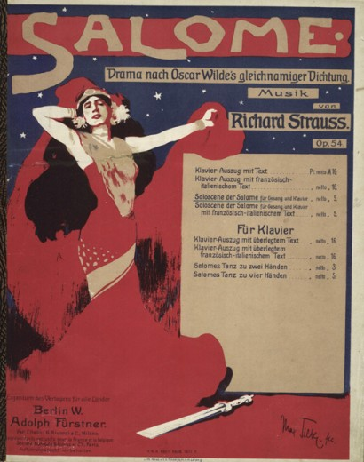 """Stock Photo: 1443-997 Title Page of the Score for Strauss' """"Salome"""" 1905 Artist Unknown  Collection of Archiv for Kunst & Geschichte, Berlin, Germany"""