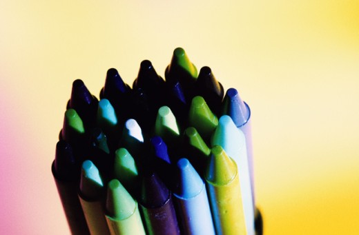 Stock Photo: 1445R-556A Close-up of crayons
