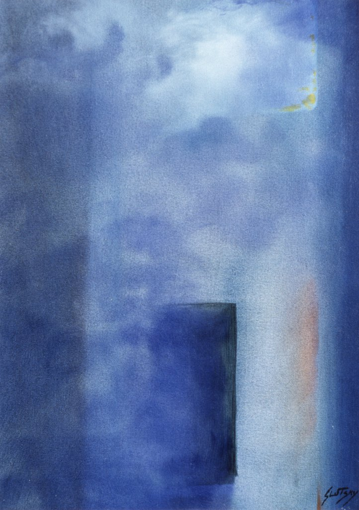 Sept. 11, North Tower 2007 Erik Slutsky (b.20th C. Canadian) Oil on canv on wood : Stock Photo