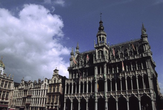 Stock Photo: 1452-189 Facade of a building, Grand Place, Brussels, Belgium
