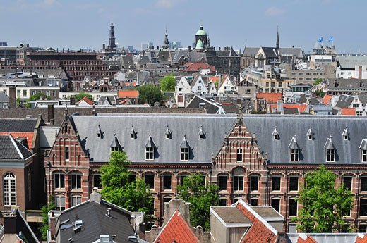 Stock Photo: 1452-205 Buildings in a city, Amsterdam, Netherlands