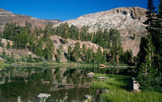 Stock Photo: 1453-786 River flowing through mountains, Yosemite National Park, California, USA