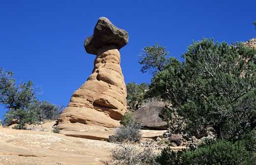 Stock Photo: 1453-950 Low angle view of rock formations, Manti-La Sal National Forest, Utah, USA