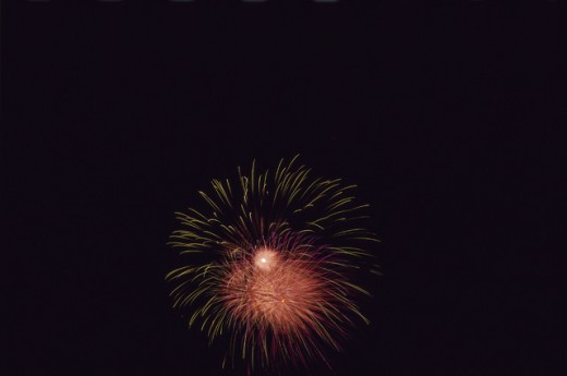 Fireworks display in the sky : Stock Photo