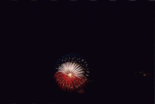 Stock Photo: 1453R-454 Fireworks display in the sky