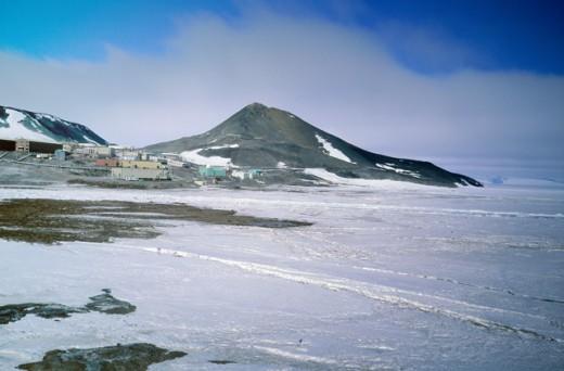 McMurdo Station Antarctica : Stock Photo