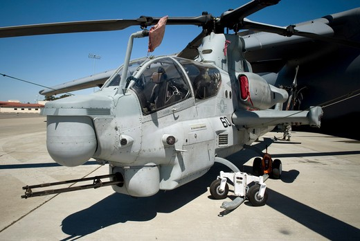 AH-1Z Super Cobra attack helicopter : Stock Photo